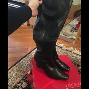 Aerosoles high black boots